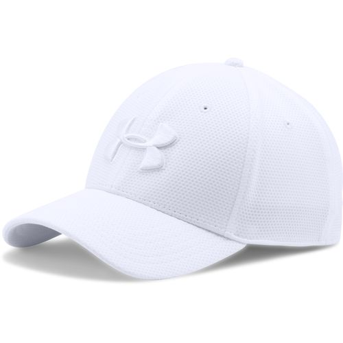 Men's UA Blitzing II Stretch Fit Cap (All white)-Under Armour