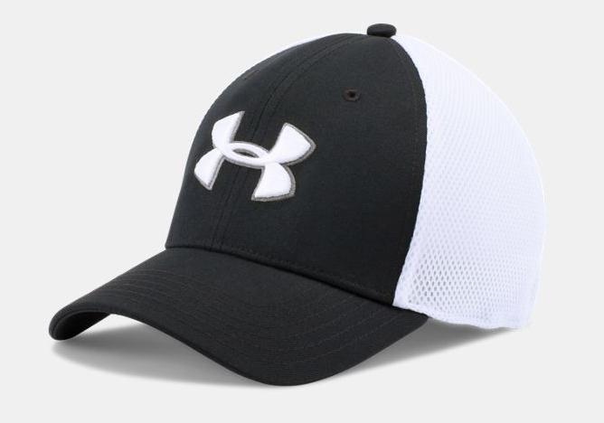 UA Golf Mesh Stretch (Black and White)-Under Armour
