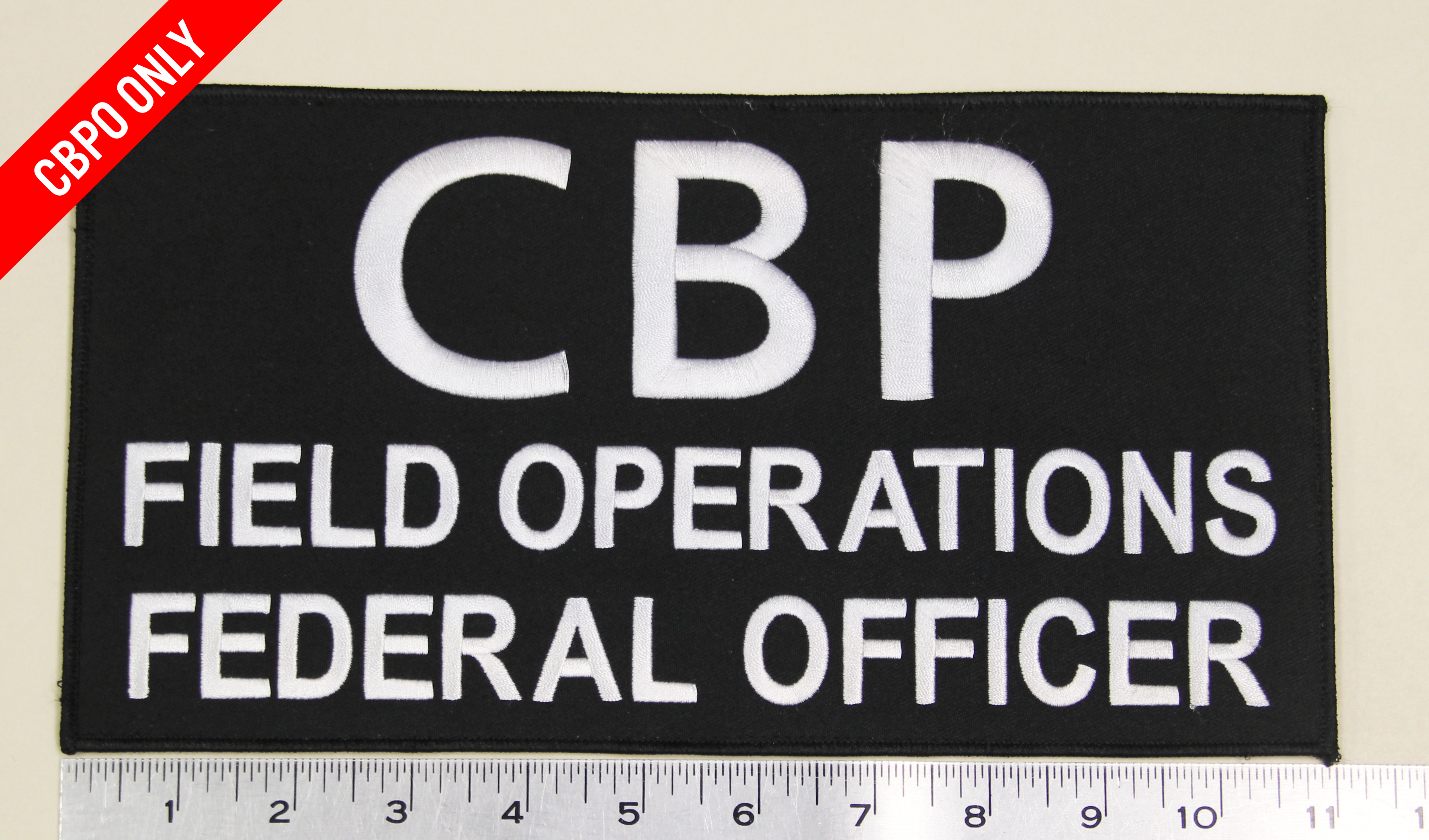 "CBP Field Operations Federal Officer LG Patch (11"" x 6"")-Nogales Tactical"