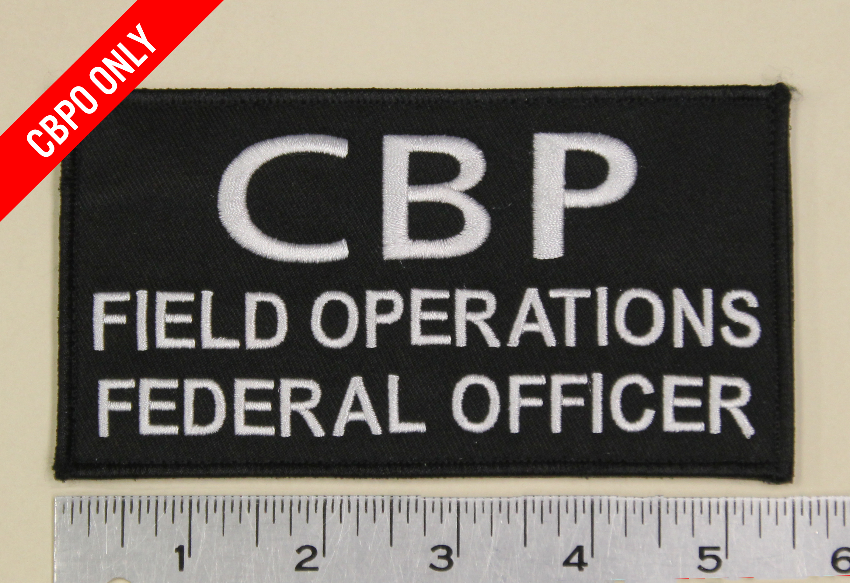 "CBP Field Operations Federal Officer SM Patch (5 1/2"" x 3"") w/ velcro-"