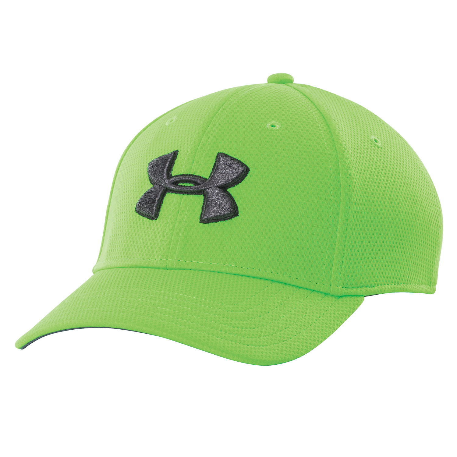 Men's UA Blitzing II Stretch Fit Cap (Neon Green)-Under Armour