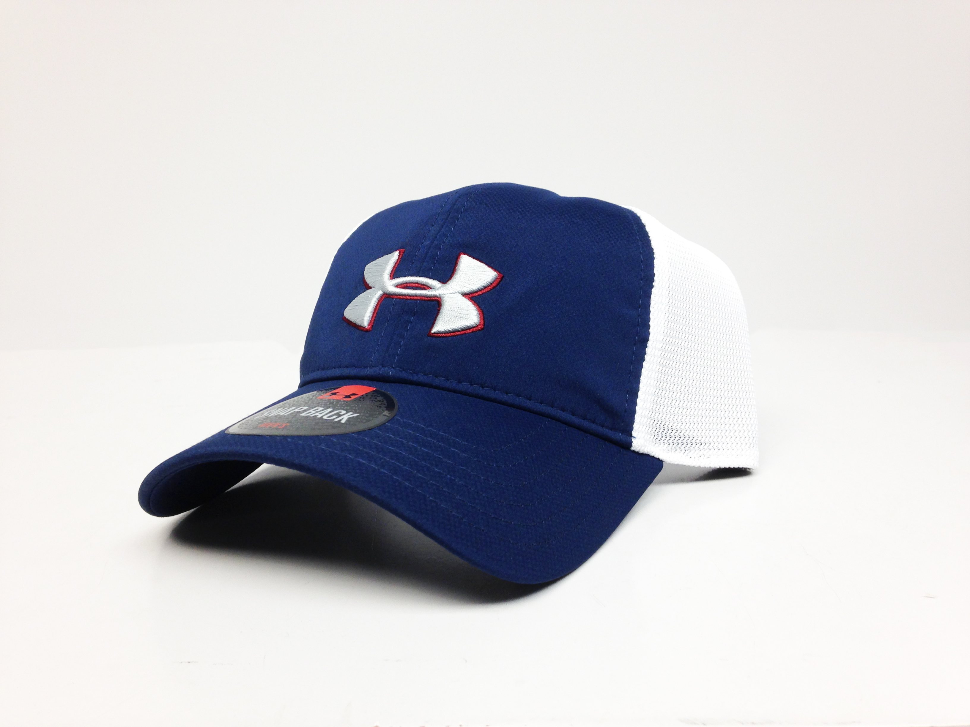 UA Classic Mesh Back Cap (Blue and White)-Under Armour
