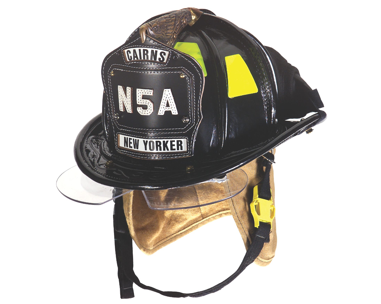 Cairns® N5A New Yorker™ Leather Fire Helmet with bourkes-CAIRNS