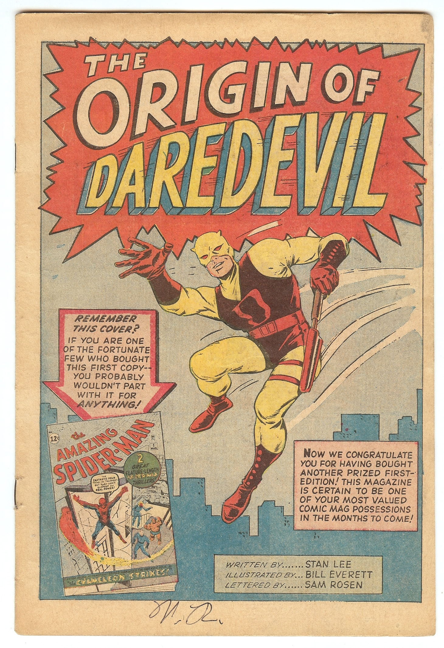 Daredevil 1964 1st Series 1 Marvel Comics