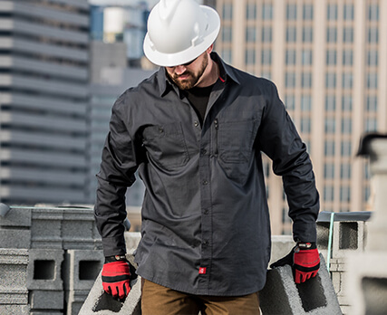 Red Kap Construction MIMIX Ripstop Work Shirt