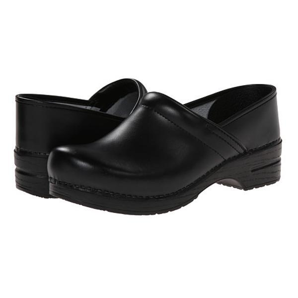 Dansko Professional Box Leather Clog - Black