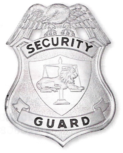 201 Security Guard Shield breast or Cap badges-