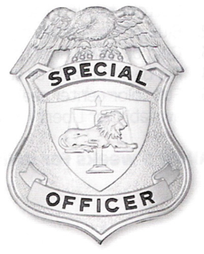 203 Special Officer Shield breast or Cap badges-