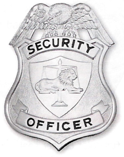 204 Security Officer Shield breast badges-