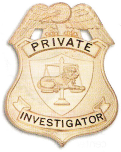 Private Investigator breast badge-