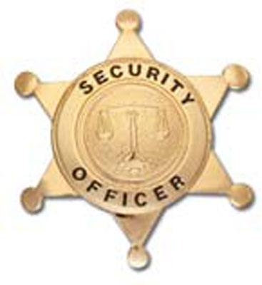 6 point star, Security Officer, plain seal nickel-