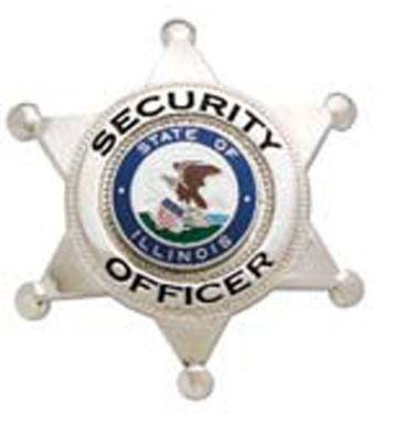 6 point star, Security Officer, Illinois seal nickel-
