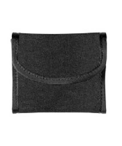 Flat glove pouch hook and loop closure-