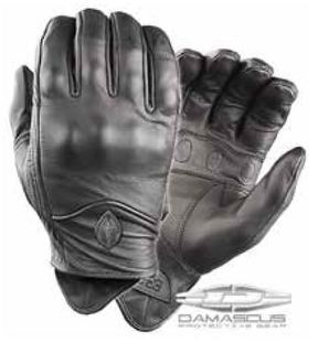 Leather Duty Glove w/Hard Knuckles Black-Damascus