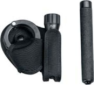 Black, combo for baton or Triad with cuffs-HWC Equipment