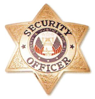 6 Pt. Star, Security Officer-