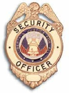 Security Guard, Gold, Liberty & Justice Seal-