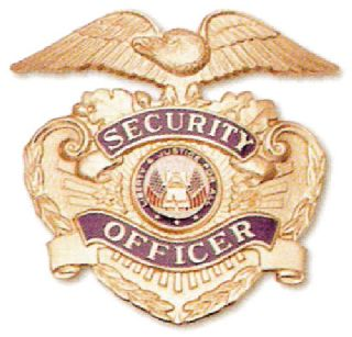 Cap Badge, Security Officer-