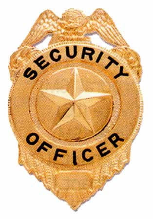 Small Star Center Security Officer, Gold-