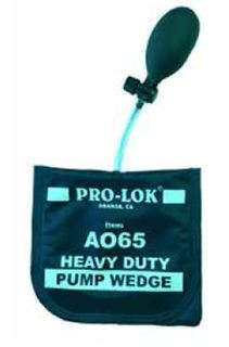 Inflatable pump wedge-