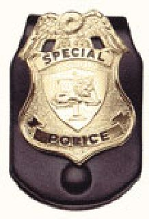 Badge belt clip-