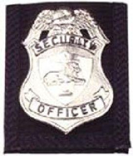 Badge holder w/Velcro closure-