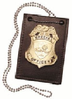 Neck chain for badge & ID-Boston Leather