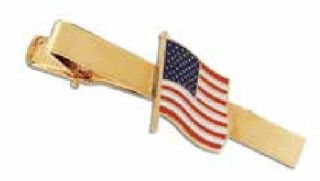 Usa Flag Tie Clip-