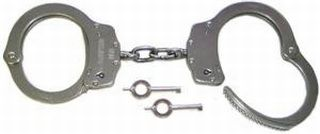 Standard size chain handcuff, nickel NIJ-