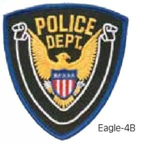 Eagle Patch Police Dept. Blue/White/Black-