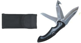 Trilogy rescue knife with nylon holster-