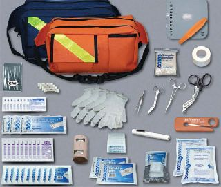 Trauma Pac complete kit, orange bag-