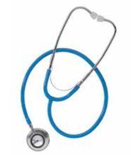 Dual head stethoscope, red-