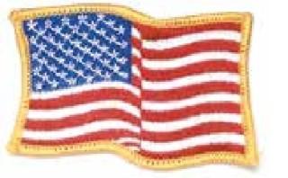 Wavy Flag Patch, Gold Border-HWC Equipment
