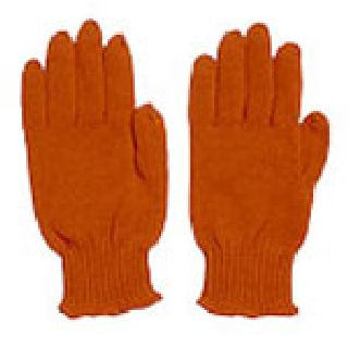 Knitted Orange Acrylic Safety Glove-Safety Flag