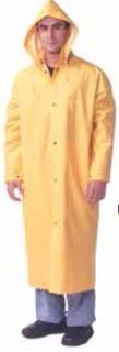 "49"" long rain coat, yellow, plain sizes SM-6XL-"