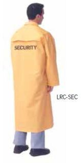 "49"" rain coat, black with SECURITY sizes SM-6XL-"