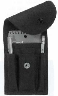 Deluxe Nylon Memo Book Cover w/Clip-HWC Equipment