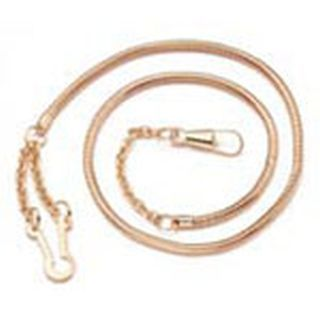 Nickel snake whisle chain, button style-