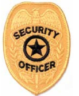 P104 Security Officer Badge Patch-HWC Equipment