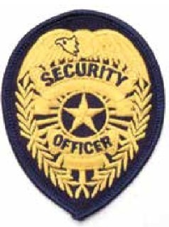 P104n Security Officer Badge Patch-