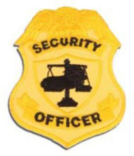 Security Officer Badge Patch, Silver-