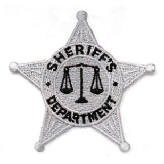 Silver 5 Pt. Star Sheriff Dept. Patch-