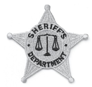 Gold 5 Pt. Star Sheriff Dept. Patch-HWC Equipment