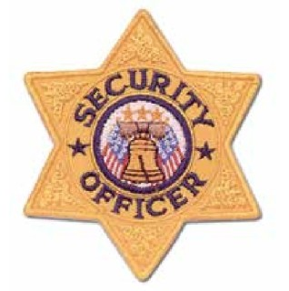P6104 6 Pt Security Officer Patch-