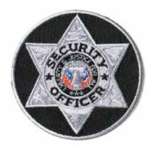 Silver/Black Round Security Officer-