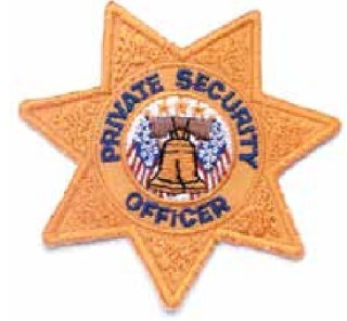 7pt Star Private Security Officer-
