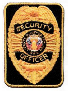 Silver/Black Security Officer Rectangle-