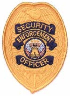 Security Enforcement Officer silver Shield Patch-
