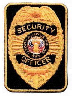 Gold/Black Security Officer Rectangle
